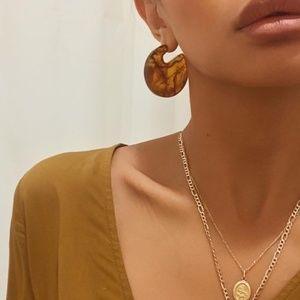 NWOT modern minimalist lucite hoop earrings